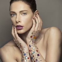 Beauty makeup with gems by Maya Lewis