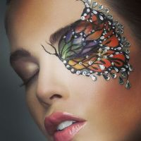 Butterfly facepaint by Maya Lewis