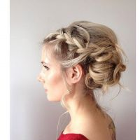 Bohemian plaited bridal hairstyling by Maya Lewis