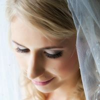 A beautiful bride with veil on her wedding day