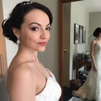 Classic makeup & hair on beautiful bride, Oxford