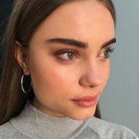 Stunning model with beautiful eye makeup