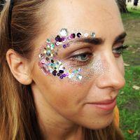 Glitter makeup at Wilderness festival 2016