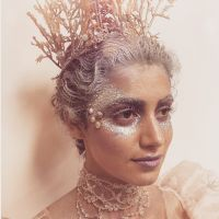 Detailed Ice Queen fairy facepaint